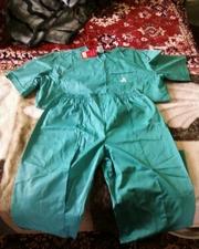 Медицинский костюм зеленый (мужской)