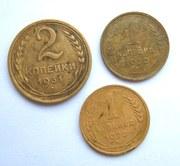 1, 2, 1 копейки СССР, 1930, 1928, 1931