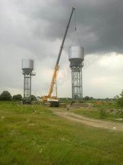 Водонапорная башня под ключ от завода изготовителя,  монтаж по Украине
